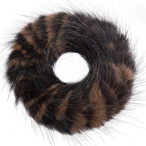 Fell Haargummi 2-farbig braun/schwarz