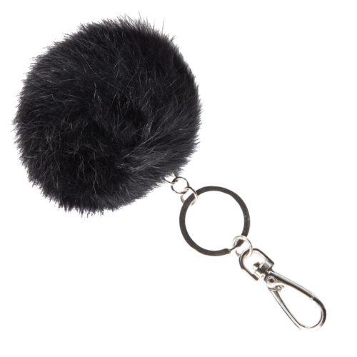 Fell Anhänger für Tasche oder Schlüssel - schwarz