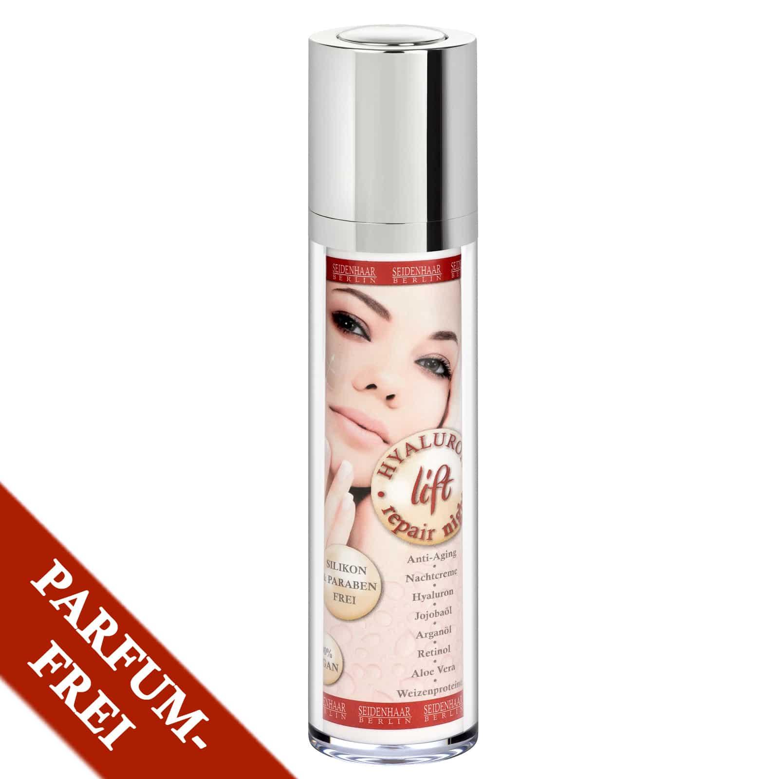 Hyaluron Nachtcreme parfümfrei