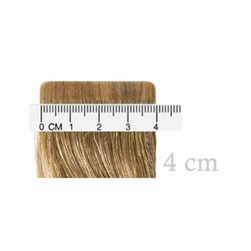 4 cm breite Tape Extension Mustersträhne von Seidenhaar Berlin - Hochwertige Echthaar Haarverlängerungen in Remy-Qualität