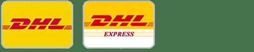 Wir versenden mit DHL und DHL Express
